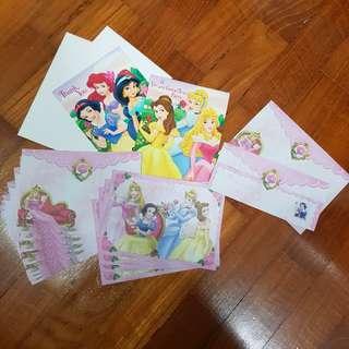 Disney Princess Letter Set (Freebies included!)