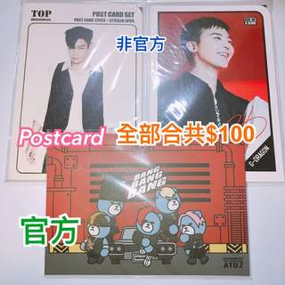 BIGBANG postcard G-Dragon TOP