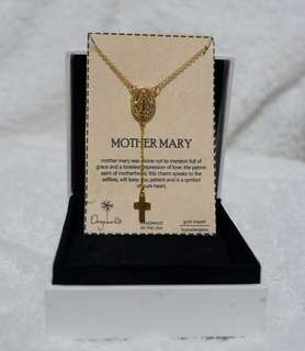 10k mother mary necklace