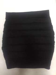 Black bandage skirt, S-M, good as new, Free shipping