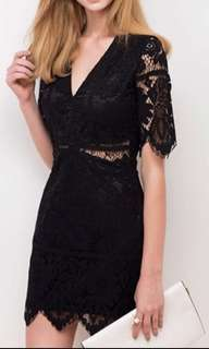 Airspace 黑色蕾絲洋裝