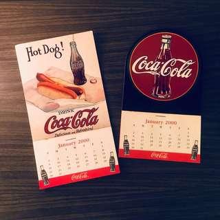 Coca Cola 2000 Mini Calendar