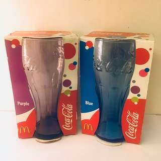 Coca Cola Contour Glasses x2