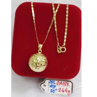 18K SPECIAL SAUDI GOLD NECKLACE (CHAIN & PENDANT) >>>>,