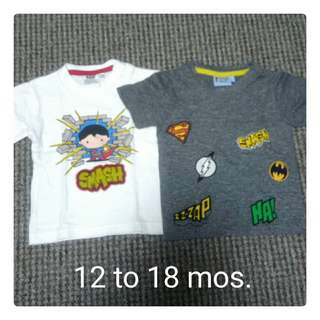 Assorted character shirts for baby boy
