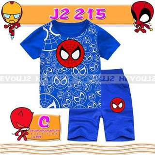 2-Piece Spiderman Printed Short Sleeve Casual Wear Clothing Set (2-7y)