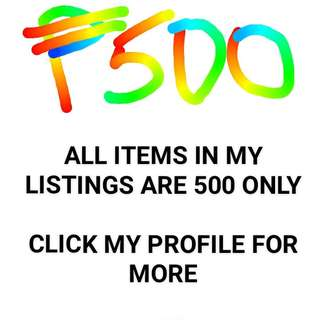 ALL MY LISTINGS ARE 500