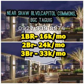 1BR PRESELLING CONDO DMCI HOMES SHAW BLVD CAPITOL COMMOMS