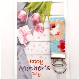 Fabric Keyfob with Mother's Day Card