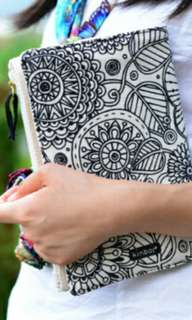 Wide Secret Garden Cloth Set with Notebook