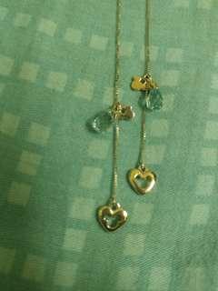 18k 750 Disney land Mickey mouse earrings迪士尼米奇水晶耳環