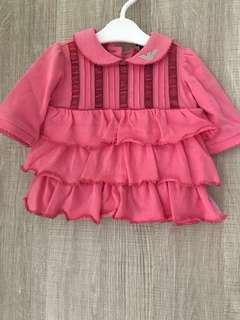 Armani Pink Dress ( NB-1 month old )