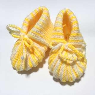 🌼 Handmade Crochet Baby Booties 🌼