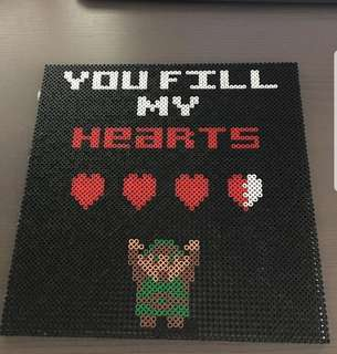 Hama beads design you fill my heart