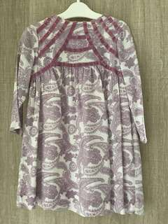 Long sleeve lilac dress ( Suit 18-24 mths old )