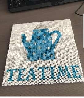 Hama beads design signs tea time