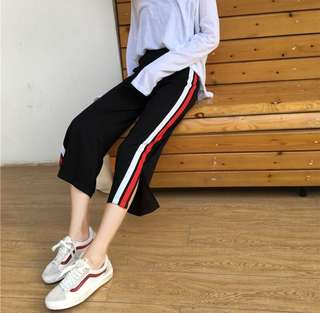 Korean stripes pants