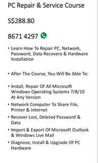PC Repair and Service Course