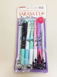 日本 Zebra SARASA 斑馬牌 俄羅斯古風系列 限量版(一套5枝)