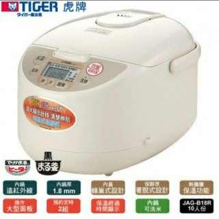 🚚 🇯🇵TIGER®虎牌 10人份微電腦炊飯電子鍋 JAG-B18R 黑釜鍋設計熱能不流失