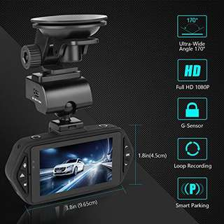 Oasser Classic - C1 Car Camera Dash Cam for Cars Video Recorder FHD with 1920x1080P 2.7″ LCD 170°Wide Angle Super Night Vision G-Sensor Loop Recording Motion Detection