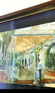Ong Kim Seng Raffles Hotel Courtyard Painting