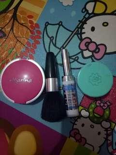 Skin food, Bedak, eyeliner, brush
