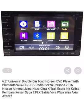 Double din touchscreen DVD player