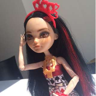 Repainted Ever After High Doll Lizzie Hearts
