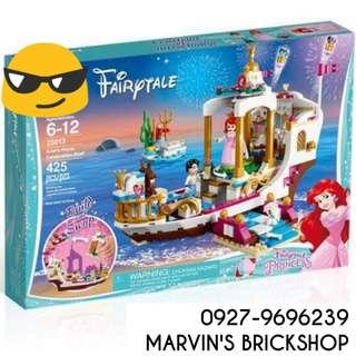 Latest Ariel's Royal Celebration Boat Building Blocks Toy