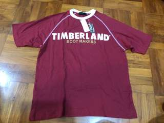 Timberland L size Red Tee