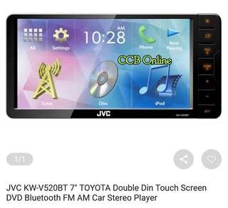 JVC double din touchscreen DVD