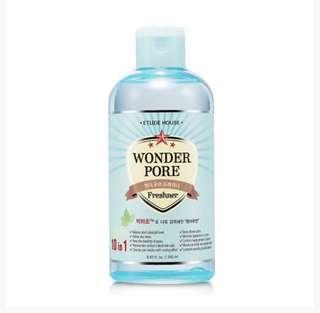 NEW Etude House Wonder Pore Freshner 250ML with FREE Wonder Pore Cleanser 250ML