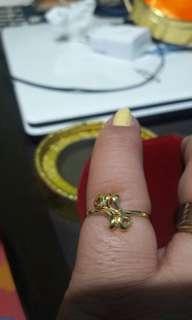 18k saudi gold ring size 5