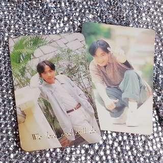 2張=HK$5 古巨基 絕版 YesCard 燙字 燙金字 100分Card 白咭 (((全圖售 不散賣)))