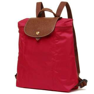 Longchamp Le Pliage Backpack burnt red