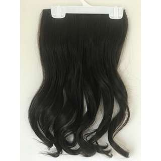 Wave clip on extension hair piece