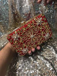 Embroidered clutch / bag