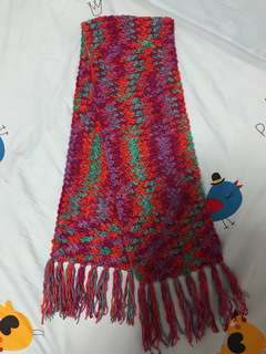 Crochet scarf with tassels!