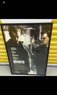 Framed The Departed movie poster
