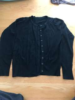 black cardigan long sleeve