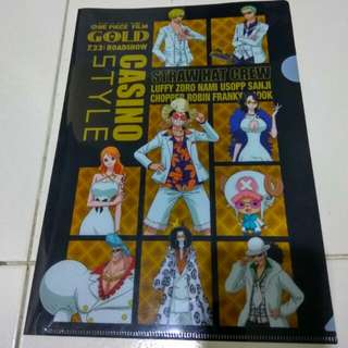 One Piece A4 folder