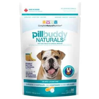 Pill Buddy Naturals Peanut Butter & Banana Dog Treats 5.29oz
