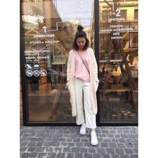 特價 全新 轉賣 韓國連線 Miyuki in Korea 霹靂大推薦高質感西裝寬褲 白色 Samantha Dobe