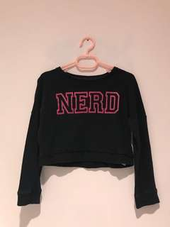 Forever 21 Kids Nerd Cropped Sweater