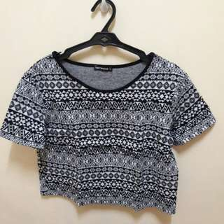 Terrannova Aztec Cropped Top