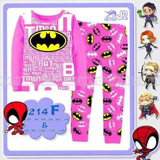 2-Piece Batman Printed Casual Wear&Pyjamas Clothing Set (2-7y)