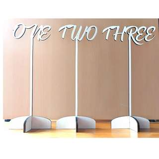 Custom Made Wooden Table Number for Wedding, Event or Party Deco