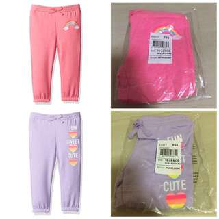 SALE 50% Off - 2 for $14 - 18-24 Mths BNWT The children's place baby girl pants.