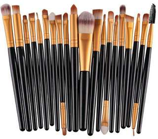 20 pcs makeup synthetic brushes